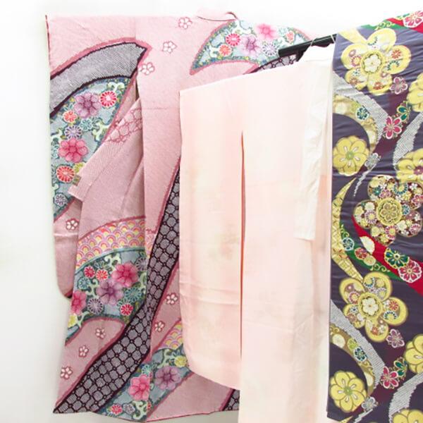 総絞りの振袖 袋帯襦袢セット