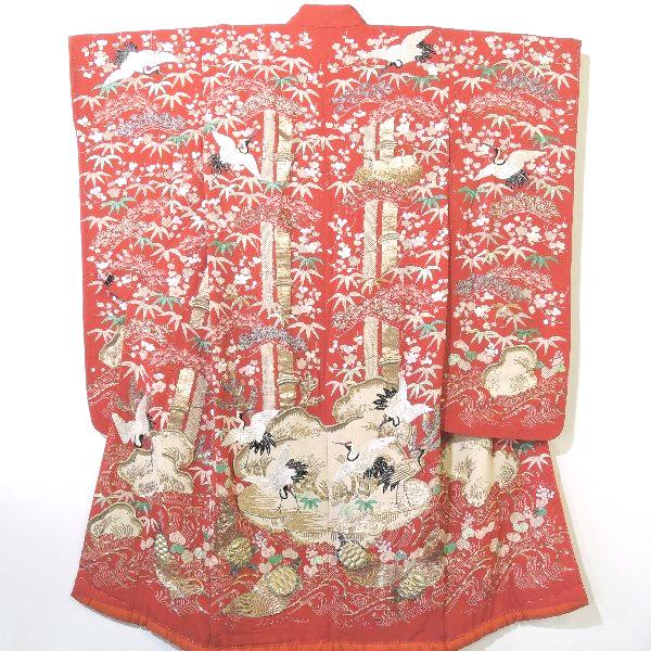 江戸縮緬日本刺繍のアンティーク打掛