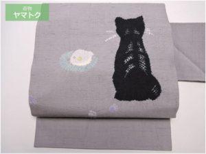 赤城紬の猫柄