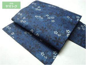 本場琉球藍型の名古屋帯