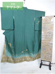ステンドグラス柄の着物