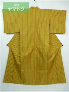 本場黄八丈の市松織着物