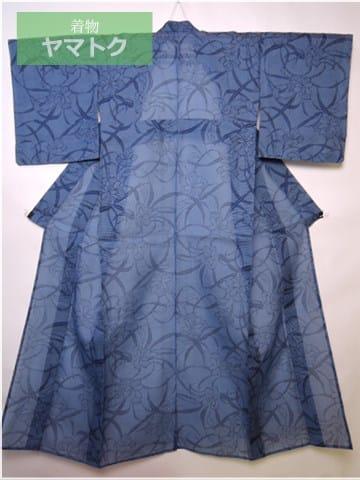 絹紅梅の着物