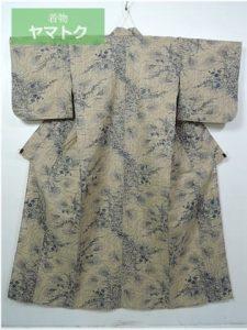 竺仙鑑製の秋草の浴衣