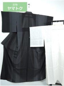 本場縞大島の単衣着物