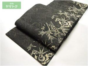 福良雀に竹の袋帯